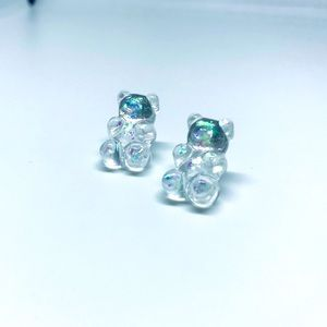 Gummy Bear Pearlized Stud Earrings Handmade